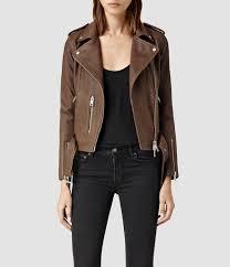 all saints balfern leather jacket brown sahara