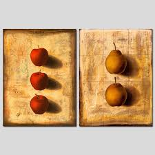 >retro 2pcs set 3d still life fruit red apple pear decoration wall  retro 2pcs set 3d still life fruit red apple pear decoration wall art picture slate