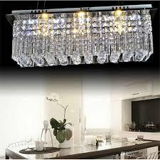 modern k9 rectangle led crystal chandelier balcony lamp aisle lights chandelier india