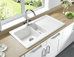 porcelain kitchen sink blanco e granite sinks are composite any good reviews stainless steel vs cast porcelain kitchen sink