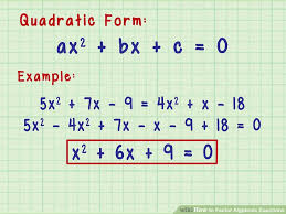 3 ways to factor algebraic equations wikihow