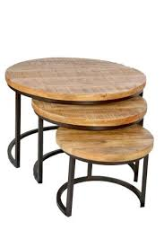 wood and iron furniture. Nested Iron Wooden Round Coffee Table Wood And Furniture W