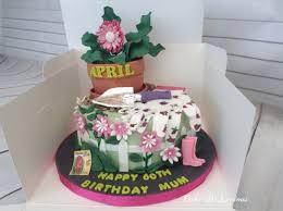 50th Birthday Mum Gardening Themed Cake Cake By Cake D Licious