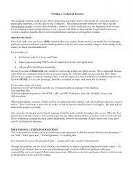 ... Resume Technical Skills Resume Sample Of Writing Tips For Resume  Technical Skills Resume ...