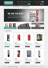 Vending Machine Website Impressive Website Templates Food And Drink Vending Machines Supplier Machine