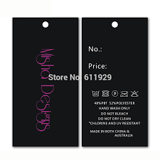 Us 32 8 18 Off Free Shipping 500pcs A Lot Customized Paper Hang Tag Clothing Swing Tag Labels Garment Bag Printed Tags Brand Care Labels Logo In