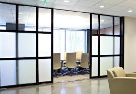 office room dividers sliding glass