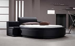 round bed furniture. Vig Furniture Owen Black Leather Round Bed With Storage Round Bed Furniture I
