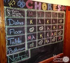 Magnetic Chalkboard Chore Chart Create Kids Chore Chart To Get Whole Family Involved In