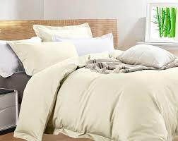 details about new egyptian cotton bamboo king size eggnog ivory quilt cover set rrp 219 99