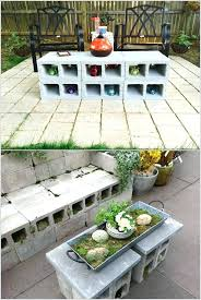 cinderblock furniture. Outdoor Coffee Table Cinder Block Tables That Can Stand All Weathers Furniture Cover Cinderblock