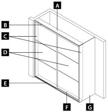 sliding wardrobe door height measuring