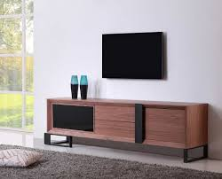 long tv console tv stands san francisco modern walnut black tv