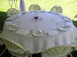 wedding table linens