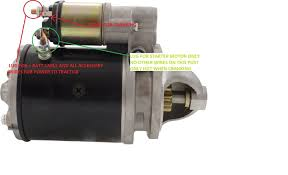 ford 3600 starter question yesterday s tractors if you have continuity from the 2 red wires eyelets to the ignition switch but no battery juice that means something is not