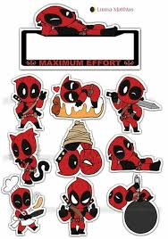 Deadpool Party Free Printable Cake Toppers Oh My Fiesta For Geeks