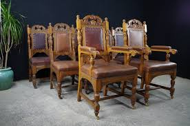 antique carved oak dining chairs c1890 painted vintage antique regarding brilliant household antique oak dining chairs plan