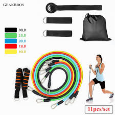 <b>11pcs</b>/<b>set Resistance Bands Yoga</b> Pull Rope Fitness Exercises ...