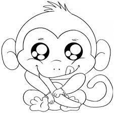 Tranh tô màu con khỉ đẹp và tinh nghịch cho bé từ 3-9 tuổi