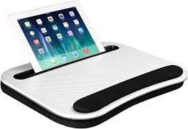 Lapgear Smart E Lap Desk White Carbon Fits Up To 15 6 Inch Laptops And Most Tablet Devices Style No 91334