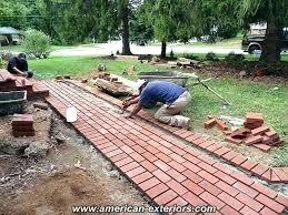 Brick Walkway Patterns Inspiration Charming Brick Walkway Patterns Exterior How To Lay Build A Curved