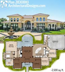 mediterranean house plans. Unique House Great Symmetry With Architectural Designs Mediterranean House A Plan  28308HJ Right Around 2500 Sq Ft Itu0027s Not Only Easy On The Eyes But Also Budget To Plans L