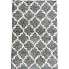 plush moroccan trellis design grey 5 ft x 7 ft area rug