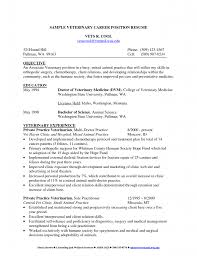 Veterinary Resume Resume Templates