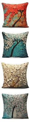 $4.99 Flower Cotton Linen Pillow Case Waist Back Throw Cushion Cover Home  Sofa Decor