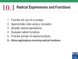 1 radical expressions