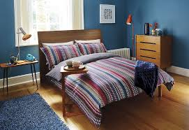 harlequin array stripe super king size duvet blue multi colour duvet cover main image