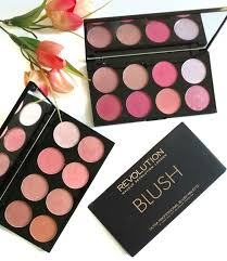 the budget beauty makeup revolution ultra blush palettes in hot e sugar and