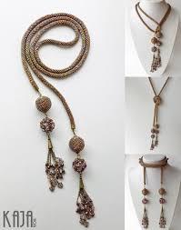 Lariat - <b>bead</b> crochet | <b>Beaded</b> jewelry, Jewelry design, Creative ...