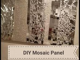 diy mirrored mosaic wall art diy wall