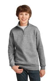 Jerzees Youth Nublend 1 4 Zip Cadet Collar Sweatshirt