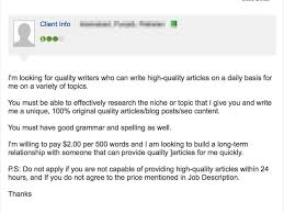 looking for lance writing jobs red flags to avoid bidding site ad