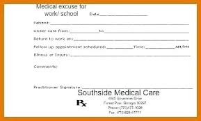 Free Fake Doctors Note Template Free Fill In Blank Doctors