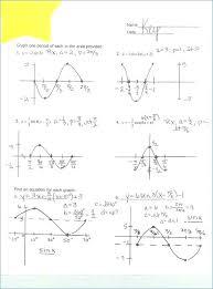 Trigonometry Graphs Worksheet Math Unique Graphing Trig