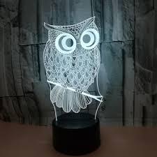 Beste Kopen Dbf Nieuwe Dier Kawaii Uil 3d Led Lamp Nachtlampje 7