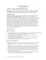 Infant Teacher Resume Format Lead Job Description Room How To Make