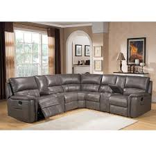 leather reclining sectional. Fine Leather Cortez Premium Top Grain Gray Leather Reclining Sectional Sofa In O