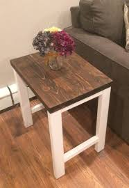 wood end tables. Pottery Barn Inspired End Table, Outdoor Living, Painted Furniture. \u201c Wood Tables