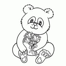 Schattige Panda Tekenen Kleurplaat Beste Kleurplaat Throughout
