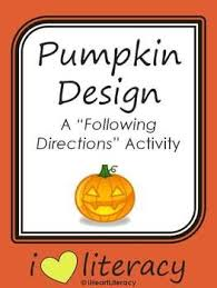 best follow directions images language pumpkin design a following directions activity common core