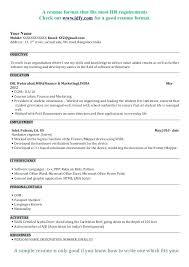 Mccombs Resume Format Custom Sample Resume Template Mba Cv Uk Unc Business School