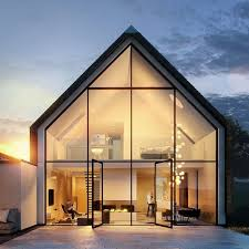 Small House Design Light Materials Glass Walls Like This One Or Concrete Wooden Walls