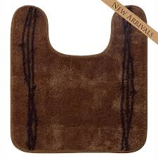 barbwire contour bath rug chocolate