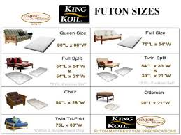 futon mattress sizes. Size Of Futon Mattress Sizes I