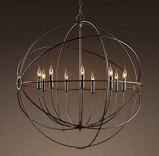 focaults orb chandelier restoration hardware vintage pendant lamp ceiling light