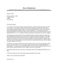Hotel Cover Letter Examples Letter Of Recommendation